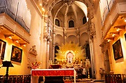 Interior of cathedral Assumption of the Virgin Mary church Lecce, Apulia, Italy in 1999