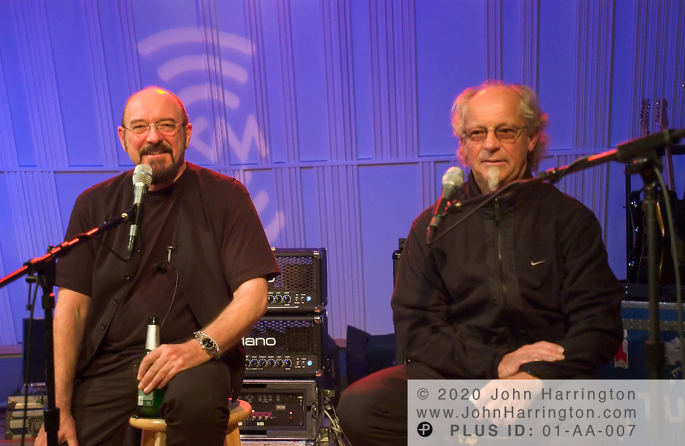 Jethro Tull, a rock band that formed in Blackpool, England in the 1960s, performs at XM studios for XM's series entitled Artist Confidential on Tuesday November 23, 2004.