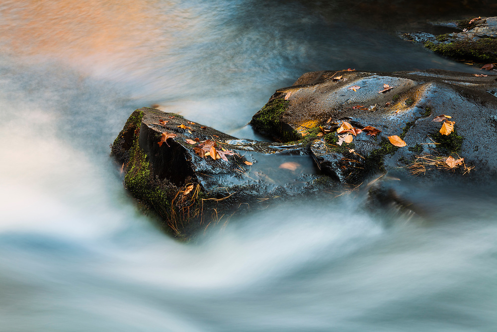 Small Cascades West Prong Little Pidgeon River - Great Smoky Mountains - Autumn