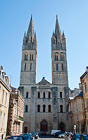 Towers at Abbeye aux Hommes in Caen, France