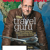 Peter Greenberg on the cover of Feb, 2016 Costco lifestyle magazine. Photographed for Costco. <br />