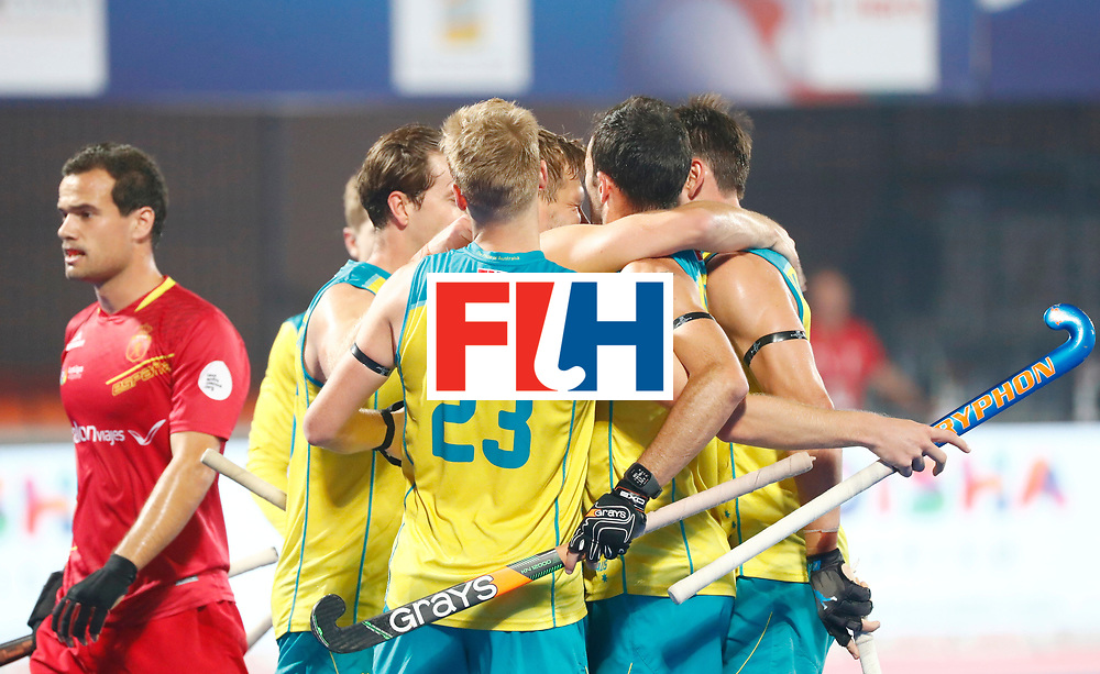 Odisha Men's Hockey World League Final Bhubaneswar 2017<br /> Match id:15<br /> Spain v Australia<br /> Foto: Australia scored a goal<br /> COPYRIGHT WORLDSPORTPICS KOEN SUYK