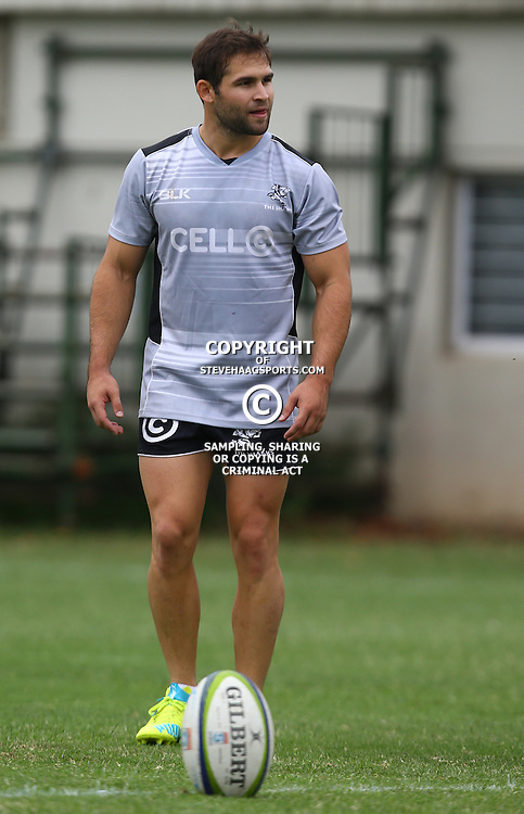 DURBAN, SOUTH AFRICA - FEBRUARY 16: Cobus Reinach during the Cell C Sharks training session at Growthpoint Kings Park on February 16, 2016 in Durban, South Africa. (Photo by Steve Haag/Gallo Images)