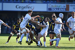 RUGBY - CHAMPIONS CUP - 2017<br /> hill (jonny)<br /> vahaamahina (sebastien)<br /> campagnaro (michele)<br /> Clermont / Exeter le 21/01/2017<br /> Photo : Pierre Lahalle
