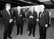 19/08/1988<br /> 08/19/1988<br /> 19 August 1988<br /> Taoiseach visits ROSC '88 at the Guinness Hop Store, Dublin. at the exhibit were: Pat Murphy ROSC Chairman (right);  Taoiseach Charles Haughey (centre) and Mr Brian Slowey, (second from left) Managing Director, Guinness, Ireland.