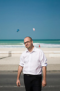 Olivier Auroy, General Manager of Landor Associates, Dubai poses for a portrait on Jumeirah Beach, Dubai on Saturday, January 3, 2009.