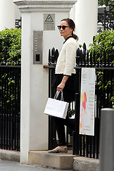 EXCLUSIVE ***NO WEB*** Pippa Middleton is seen leaving the Santi Spa in Kensington. It has been reported that Pippa has been attending the spa which promises to create the perfect 'Hollywood' pins. Lifetime membership at the club costs £55000.<br />