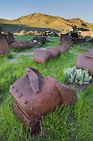 Historic mining equipment of Bannack State Park Montana
