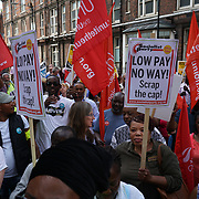 St Barts' Trust Strike - Scrap the Cap protest Low Pay, No Way