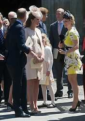 Prince William, Duke of Cambridge, Catherine, Duchess of Cambridge and Zara Phillips (R) during the 60th Anniversary of the Coronation Service at Westminster Abbey in London, Tuesday, 4th June 2013<br /> Picture by  i-Images