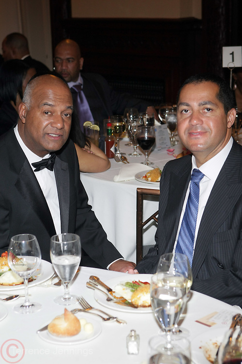 l to r: Noel Hankin and R. Donahue Peeples at The 2009 NV Awards: A Salute to Urban Professionals sponsored by Hennessey held at The New York Stock Exchange on February 27, 2009 in New York City. ....