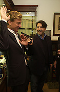 Rob Hersov and Peter Dubens. Charles Finch and Dr. Franco Beretta host launch of Beretta stor at 36 St. James St. London. 10  January 2006. ONE TIME USE ONLY - DO NOT ARCHIVE  © Copyright Photograph by Dafydd Jones 66 Stockwell Park Rd. London SW9 0DA Tel 020 7733 0108 www.dafjones.com