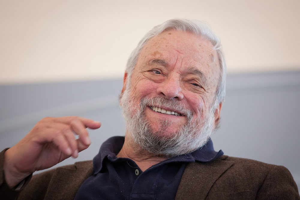 "Broadway composer and lyricist Stephen Sondheim smiles during a ceremony to award him the Edward MacDowell Medal for lifetime achievement, at the MacDowell Colony, in Peterborough, NH on Sunday, August 11, 2013. Sondheim has won more Tony Awards than any other composer. His hit musicals include ""Follies,"" ''A Little Night Music"" and ""Sweeney Todd.""  (Matthew Cavanaugh Photo)"