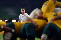 George Ford of England looks on - Mandatory byline: Patrick Khachfe/JMP - 07966 386802 - 03/10/2015 - RUGBY UNION - Twickenham Stadium - London, England - England v Australia - Rugby World Cup 2015 Pool A.