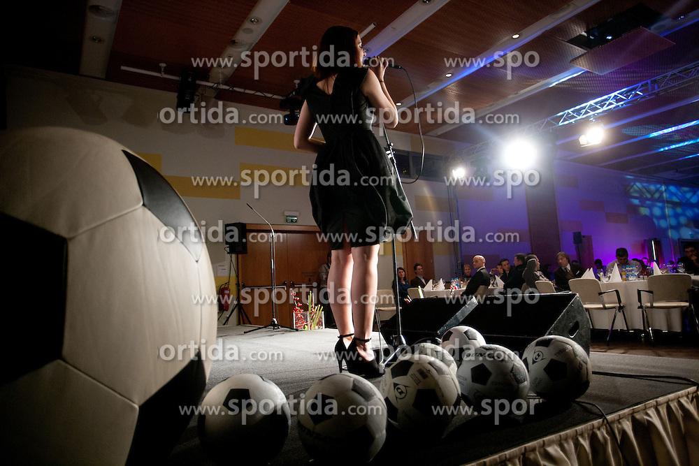 Maja Keuc performs during the Slovenian men's football player of the year 2011 award at the SPINS XI  Nogometna Gala, on November 24, 2011 in Hotel Mons, Ljubljana, Slovenia. (Photo By Vid Ponikvar / Sportida.com)