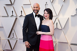 Keegan-Michael Key and Elisa Pugliese arrive on the red carpet of The 91st Oscars® at the Dolby® Theatre in Hollywood, CA on Sunday, February 24, 2019.