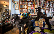 "American feminist and writer Erica Jong in her apartment with her poodles Colette (left) and Simone. Erica Jong has just finished her follow-up to her success ""Fear of Flying"". Her new book, ""Fear of Dying"" takes on age and sexuality."