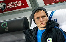 Martin Milec of Slovenia during the 2020 UEFA European Championships group G qualifying match between Slovenia and Latvia at SRC Stozice on November 19, 2019 in Ljubljana, Slovenia. Photo by Vid Ponikvar / Sportida