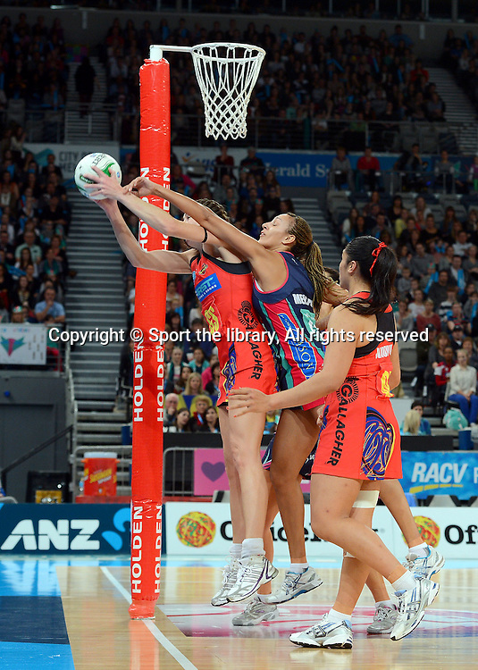 Irene van Dyk (Magic)<br /> 2012 ANZ Netball Championships / finals<br /> Melbourne Vixens vs WBOP Magic<br /> Sunday July 22nd 2012 <br /> Hisense Arena/ Melbourne Australia <br /> &copy; Sport the library / Jeff Crow