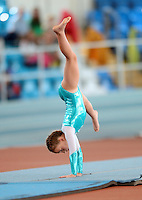 20 Aug 2016:  Holly Bhattacharya, from Offaly, performs in the U9 Gymnastics.   2016 Community Games National Festival 2016.  Athlone Institute of Technology, Athlone, Co. Westmeath. Picture: Caroline Quinn