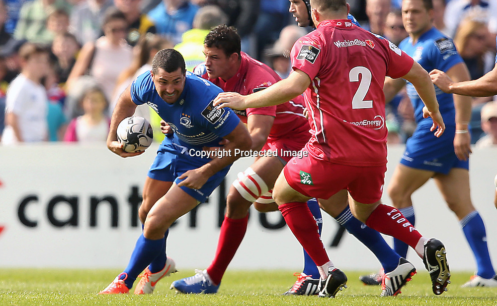 Guinness PRO12, RDS, Dublin 13/9/2014<br /> Leinster vs Scarlets<br /> Leinster&rsquo;s Rob Kearney<br /> Mandatory Credit &copy;INPHO/Billy Stickland