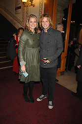 HOLLY BRANSON and SAM BRANSON at the gala night of Varekai by Cirque du Soleil at The Royal Albert Hall, London on 8th January 2008.<br />