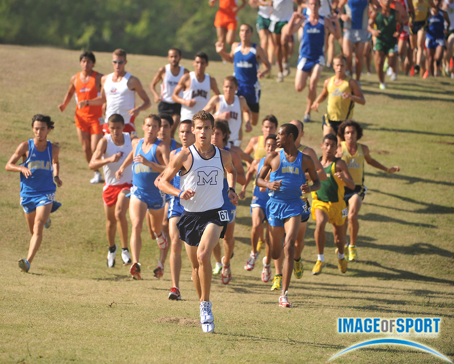 "Sep 6, 2008; Irvine, CA, USA; Jeffrey Jackson of The Master's College was fourth in the mens ""A"" race in 25:35 in the UC Irvine Invitational at the Anteater Recreation Center Fields."