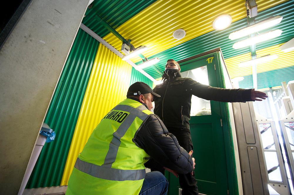 Foto: Gerrit de Heus. Den Haag. 22-04-2012<br /> Boa's. Steward in het stadion van Ado den Haag.