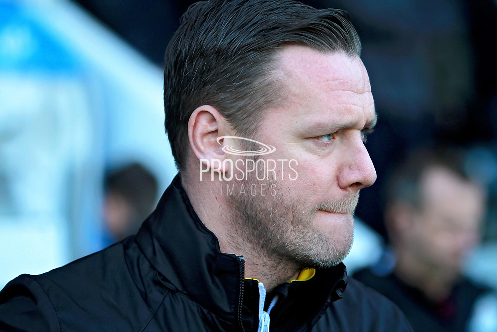 Notts County's manager Kevin Nolan before the EFL Sky Bet League 2 match between Notts County and Stevenage at Meadow Lane, Nottingham, England on 24 February 2018. Picture by Nigel Cole.