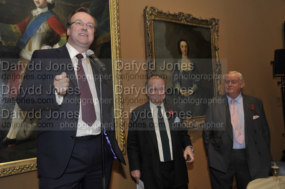 GARY POWELL; DAVID CAMPBELL; ADRIAN SYKES, Rothschild Wealth Management & Trust  and David Campbell  host a party to celebrate the publication of <br /> 'Made in Britain' -The Men and Women Who Shaped the Modern World by Adrian Sykes. National Portrait Gallery. London. 9 November 2011 <br /> <br /> <br />  , -DO NOT ARCHIVE-© Copyright Photograph by Dafydd Jones. 248 Clapham Rd. London SW9 0PZ. Tel 0207 820 0771. www.dafjones.com.