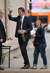 Pete Holmes and Valerie Chaney are seen at 'Jimmy Kimmel Live' in Los Angeles, California. NON-EXCLUSIVE December 10, 2018. 10 Dec 2018 Pictured: Pete Holmes,Valerie Chaney. Photo credit: RB/Bauergriffin.com / MEGA TheMegaAgency.com +1 888 505 6342