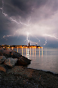 "Stunning Lightening Capture over Croatia <br /> <br /> This Stunning Photograph was taken in Poreč (Croatia) during very bad storm that came from Italy towards the shores. Photographer Robert Marić, said ""I was very happy that i got such good results, i was forced to try capture that moment by counting between the lightning"". <br /> <br /> ""After and hour or so of trying i finally got that ultimate photograph that i was hoping for. At the time this photograph was taken electric discharge in the air was so strong that my haired raised so i knew it was time to pack up and go home"" said Robert.<br /> ©Robert Marić/Exclusivepix"