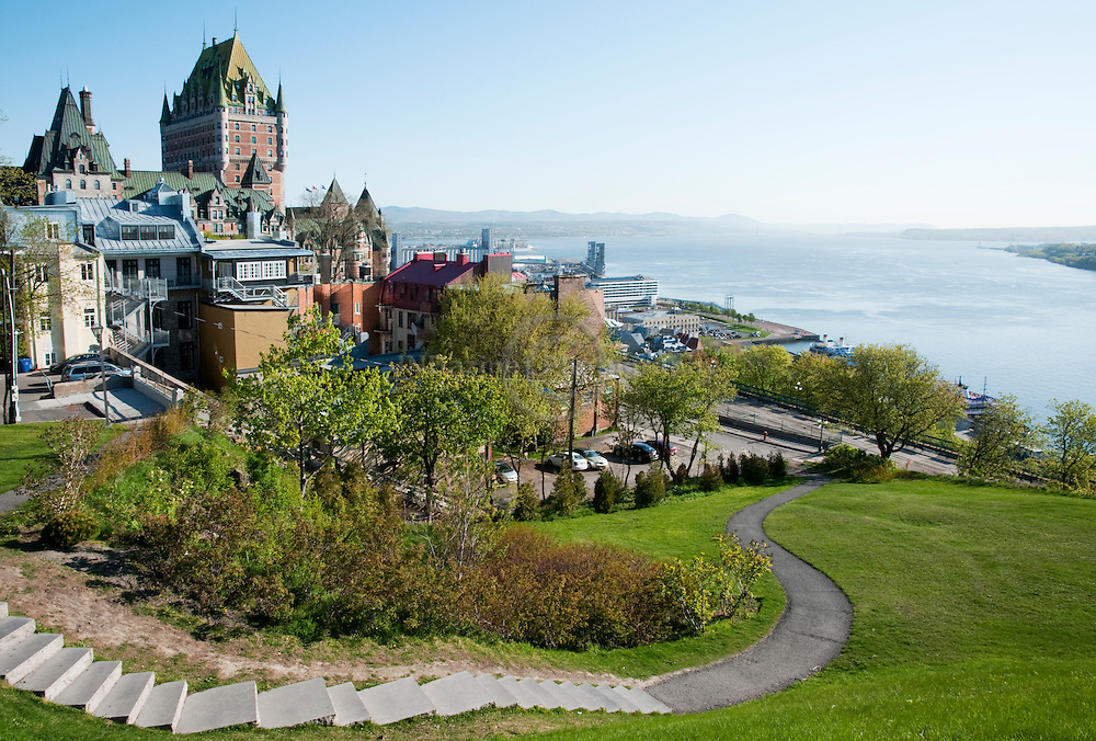 """The Château Frontenac, designed by the American architect Bruce Price, was one of a series of """"château"""" style hotels built for the Canadian Pacific Railway company at the end of the 19th and the start of the 20th century."""