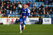 Gillingham defender Paul Konchesky (12) during the EFL Sky Bet League 1 match between Gillingham and Oldham Athletic at the MEMS Priestfield Stadium, Gillingham, England on 8 October 2016. Photo by Martin Cole.