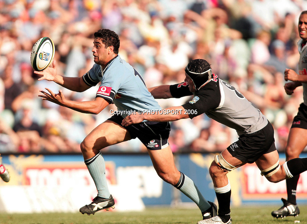 NSW Waratahs v Sharks. Aussie Stadium. 4th March 2006. Photo by Paul Seiser/Seiser Photography