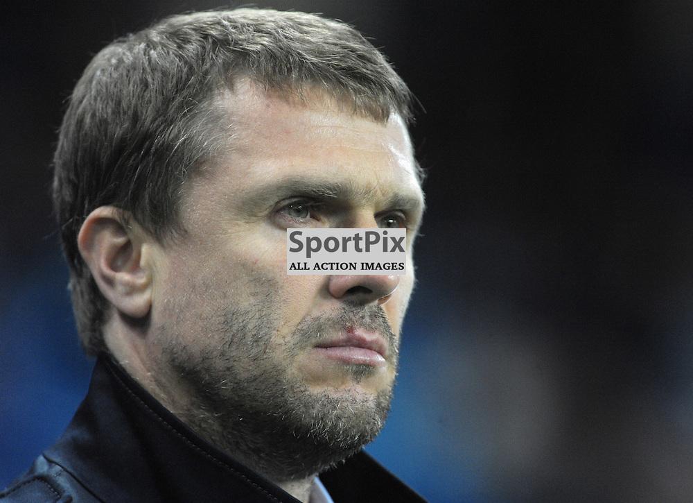 Dynamo Kiev coach Serhiy Rebrov<br /> <br /> Manchester City v Dynamo Kiev, UEFA Champions League, Tuesday 15th March 2016<br /> <br /> (c) Alex Todd | SportPix.org.uk
