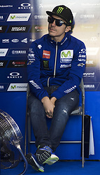 November 11, 2017 - Valencia, Valencia, Spain - 25 Maverick Viñales (Spanish) Movistar Yamaha Motogp Yamaha during qualifying the Gran Premio Motul de la Comunitat Valenciana, Circuit of Ricardo Tormo,Valencia, Spain. Saturday 11th of november 2017. (Credit Image: © Jose Breton/NurPhoto via ZUMA Press)
