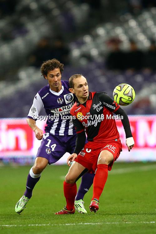 Thibault Giresse - 20.12.2014 - Toulouse / Guingamp - 19eme journee de Ligue 1 <br /> Photo : Manuel Blondeau / Icon Sport