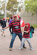 October 08, 2016: Western Sydney Wanderers crowd at Round 1 of the 2016 Hyundai A-League match, between Western Sydney Wanderers and Sydney FC, played at ANZ Stadium in Sydney. Sydney FC won the game 4-0.