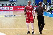Delusione Jerrells Curtis, RED OCTOBER MIA CANTU' vs EA7 EMPORIO ARMANI OLIMPIA MILANO, Lega Basket Serie A 2017/2018, 26 giornata, PalaDesio 15 aprile 2018 foto:BERTANI/Ciamillo