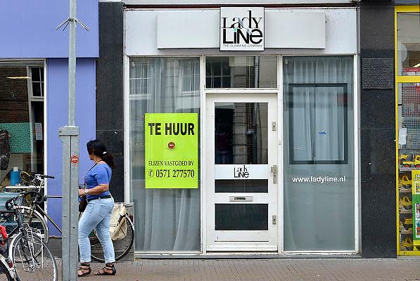 Nederland, Nijmegen, 4-7-2014In de binnenstad van Nijmegen komen steeds meer winkels leeg te staan.Foto: Flip Franssen/Hollandse Hoogte