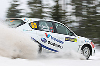 MOTORSPORT - WORLD RALLY CHAMPIONSHIP 2012 - RALLY SWEDEN / RALLYE DE SUEDE - 08 TO 12/02/2012 - KARLSTAD (SWE) - PHOTO : FRANCOIS BAUDIN /  DPPI - ANDERS GRONDAL SUBARU ACTION