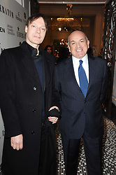 Left to right, WILLIAM ORBIT and ALEXANDER KRASNER at the Liberatum Dinner hosted by Ella Krasner and Pablo Ganguli in honour of Sir V S Naipaul at The Landau at The Langham, Portland Place, London on 23rd November 2010.