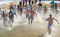"""The Margate Resort was host to the annual Special Olympics """"Winni Dip"""" as teams charge into Lake Winnipesaukee on Sunday afternoon.   (Karen Bobotas/for the Laconia Daily Sun)"""