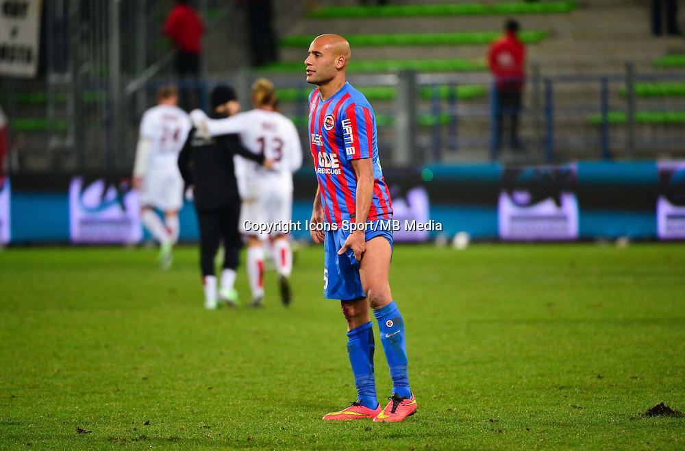 Deception Alaedinne YAHIA - 06.12.2014 - Caen / Nice - 17eme journee de Ligue 1 -<br />Photo : Dave Winter / Icon Sport