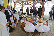 Easter in Southern Styria, Austria. St. Nikolai im Sausal. Fleischweihe (blessing of the Easter meat) at Steiri Buschenschank.