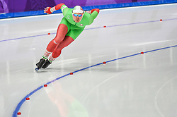 February 23, 2018 - Pyeongchang, Gangwon, South Korea - Ignat Golovatsiuk of  Belarus  at 1000 meter speedskating at winter olympics, Gangneung South Korea on February 23, 2018. (Credit Image: © Ulrik Pedersen/NurPhoto via ZUMA Press)