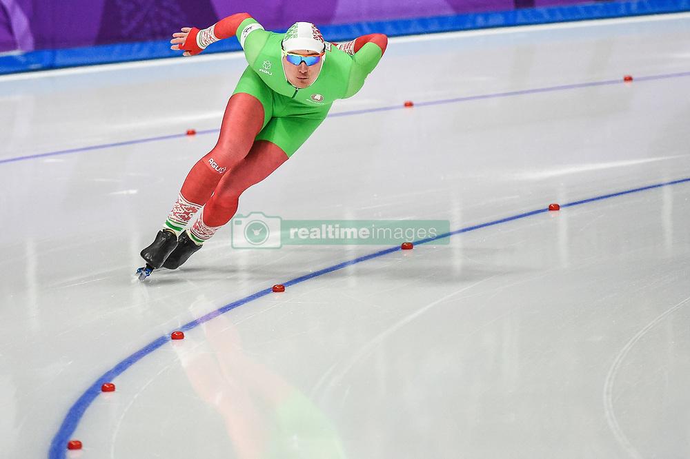 February 23, 2018 - Pyeongchang, Gangwon, South Korea - Ignat Golovatsiuk of Belarus  at 1000 meter speedskating at winter olympics, Gangneung South Korea on February 23, 2018. (Credit Image: © Ulrik Pedersen/NurPhoto via ZUMA Press)