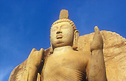The 13 metre high Aukana Buddha statue dating from the 5th century