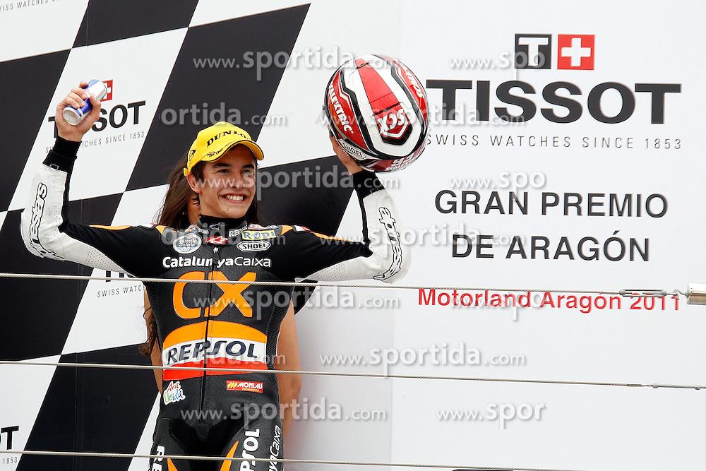 18.09.2011, Motorland Aragon, ESP, MotoGP, Gran Premio de Aragon, im Bild Marc Marquez - Repsol CX team .EXPA Pictures © 2011, PhotoCredit: EXPA/ InsideFoto/ Semedia +++++ ATTENTION - FOR AUSTRIA/(AUT), SLOVENIA/(SLO), SERBIA/(SRB), CROATIA/(CRO), SWISS/(SUI) and SWEDEN/(SWE) CLIENT ONLY +++++